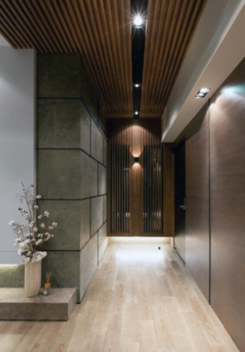 Wooden ceilings can also look modern,