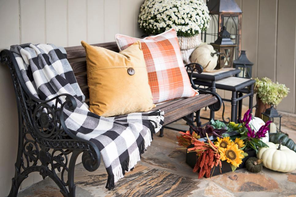 The front porch is perfect for a sitting space. Source: HGTV