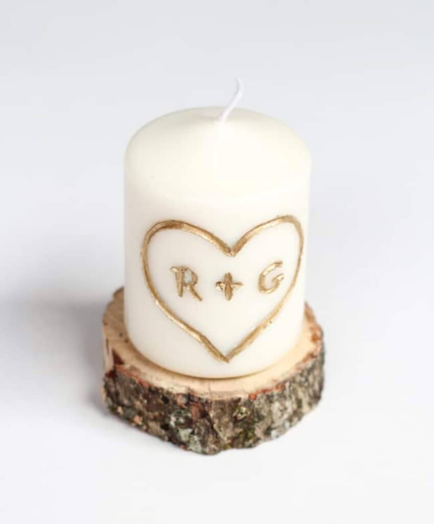 A beautiful carved candle for a candle light dinner! Source: Hello Glow
