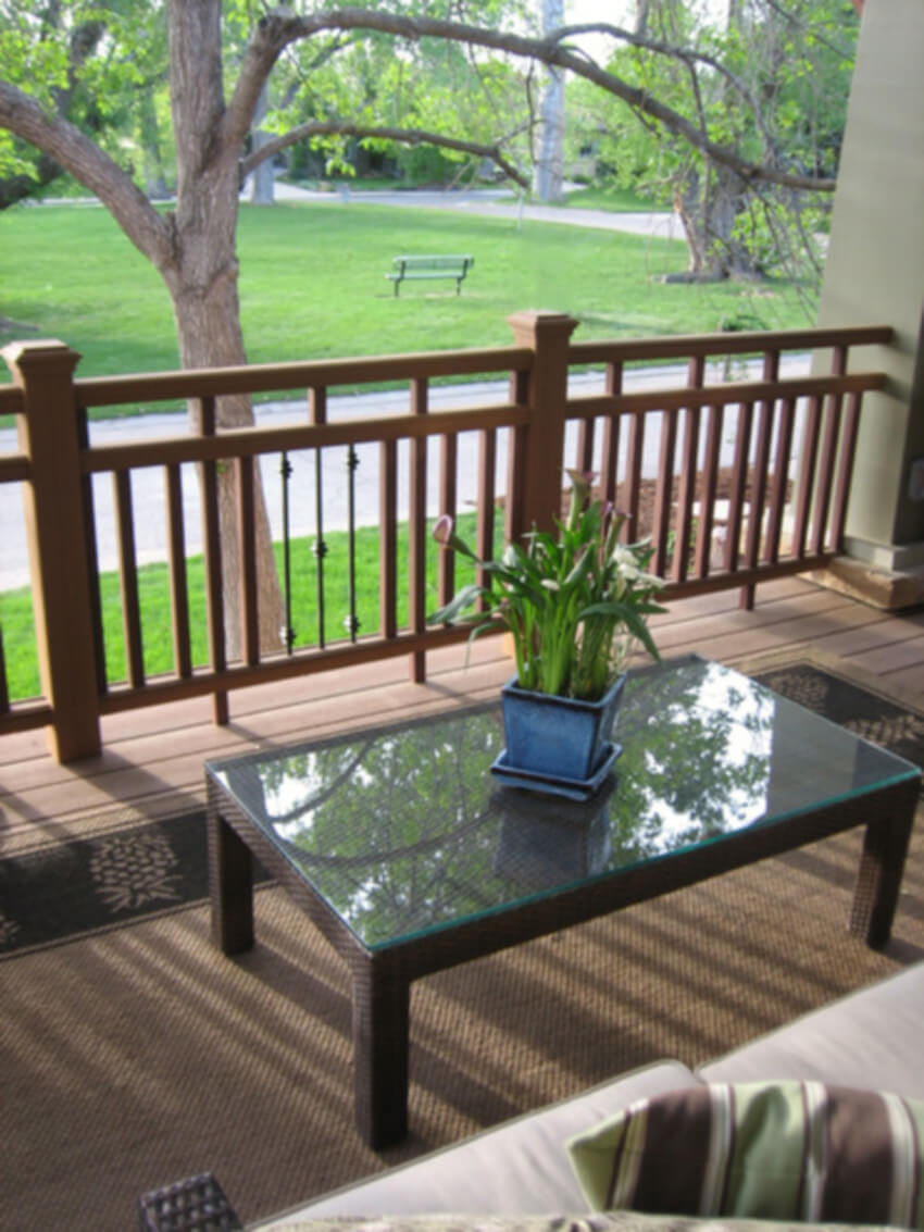Craftsman made with wood pieces will be great for your summer deck.