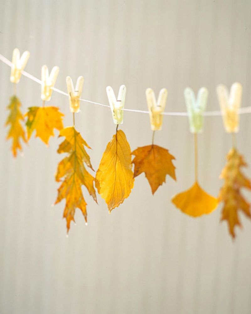 A simple but charming DIY Fall decor! Source: Martha Stewart