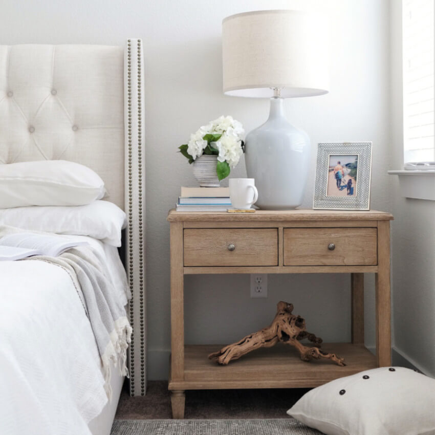 One nightstand is more than enough in your bedroom.