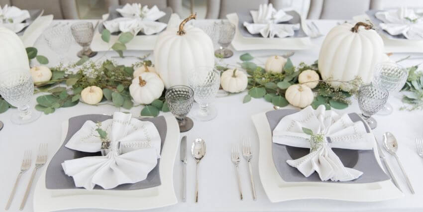 White can also work as Thanksgiving decor! Source: Elle Decor