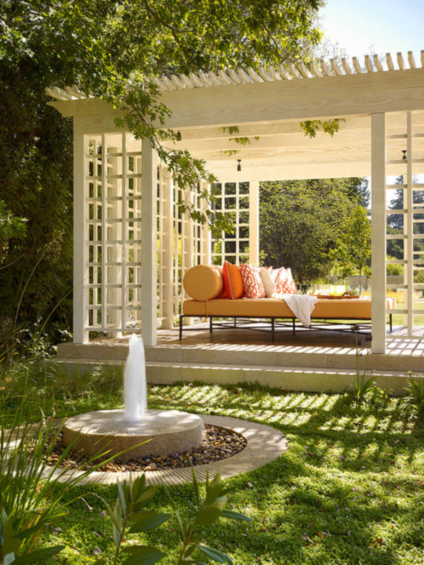Enhance your landscape by installing a pergola.