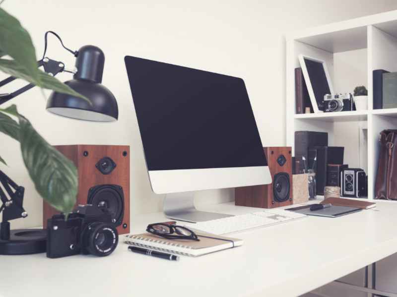 7 Ways To Save Space on Your Work Desk