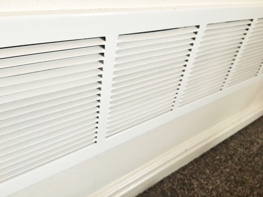 Clean the vents to prevent allergies.