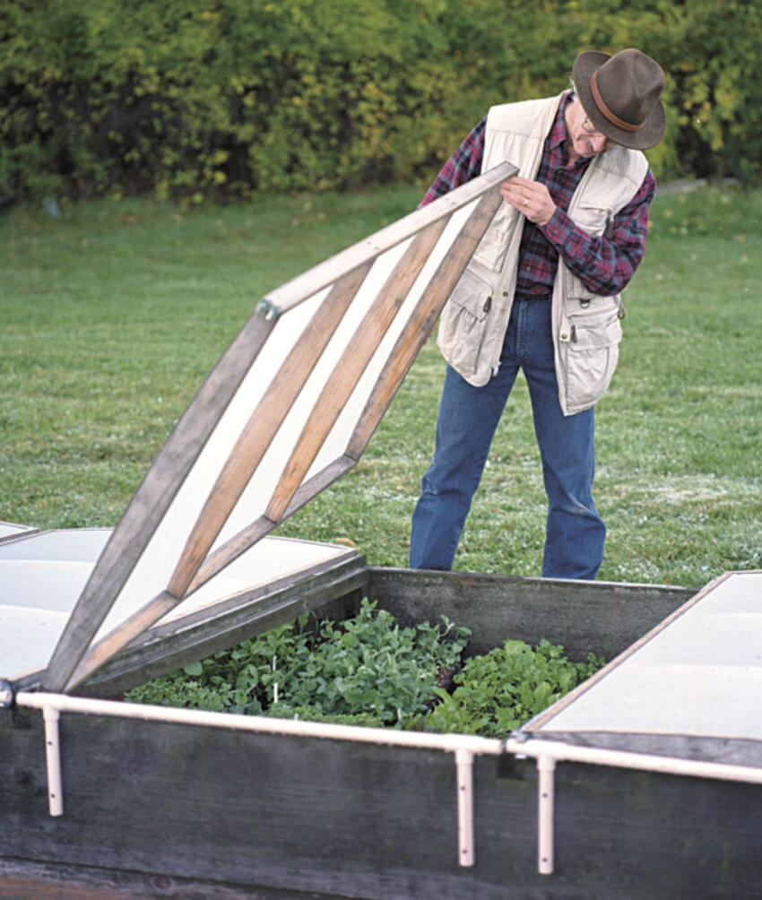 A cold frame is great for consistent frost. Source: The Self-sufficient Living