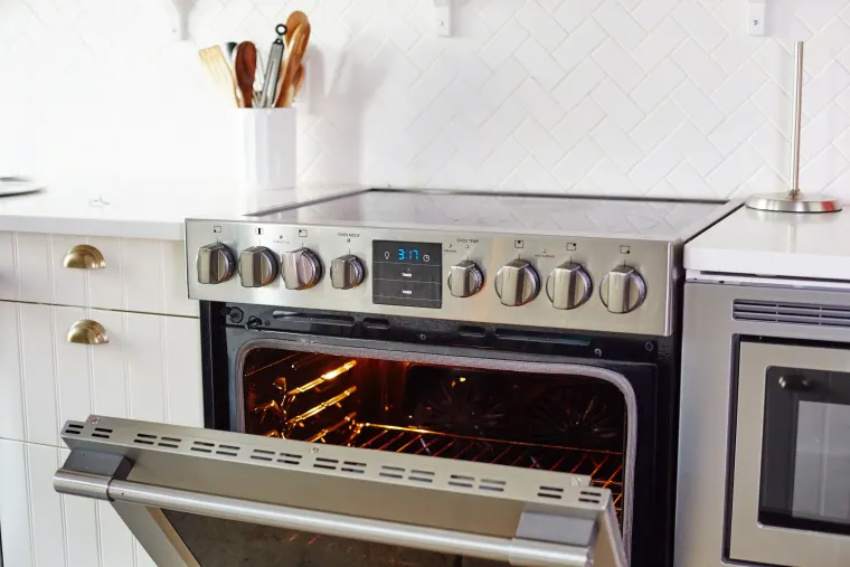 Cleaning your oven is easy if you follow the right steps. Source: The Kitchn