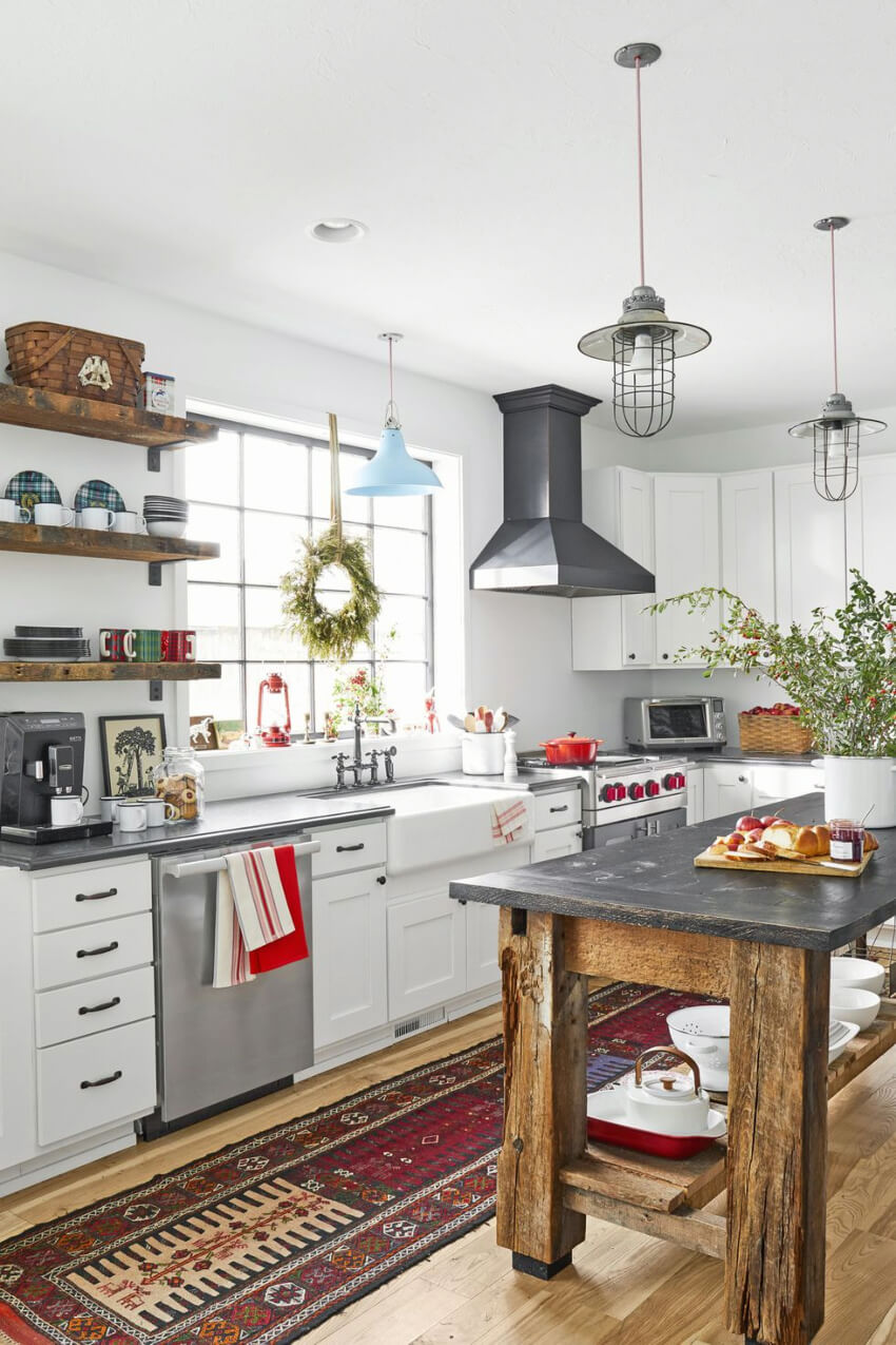 Turn your kitchen into a farmhouse wonderland. Source: Country Living