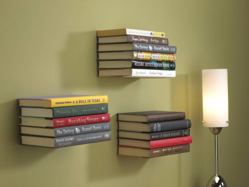 Keep your favorite books at hand with these floating bookshelves.
