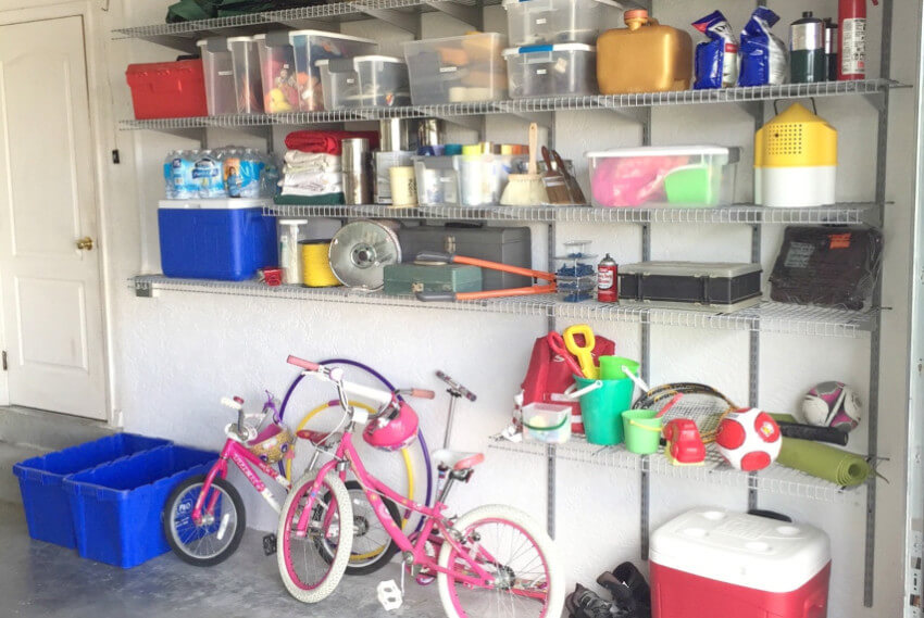 Take the weekend to declutter your garage.