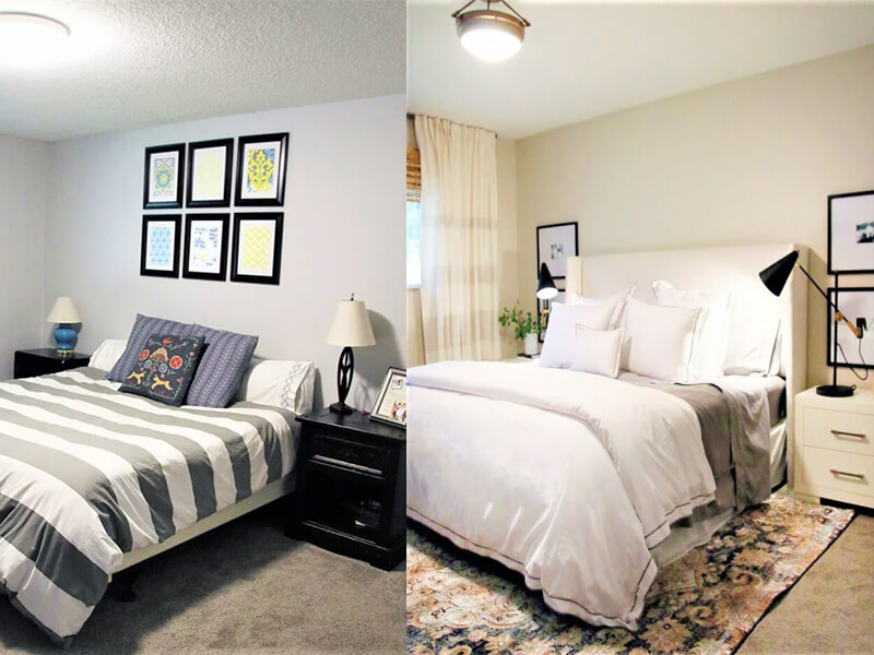 5 Amazing Before and After Bedroom Transformations