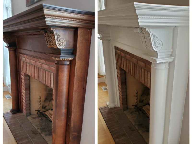 How to Refinish a Fireplace Mantel