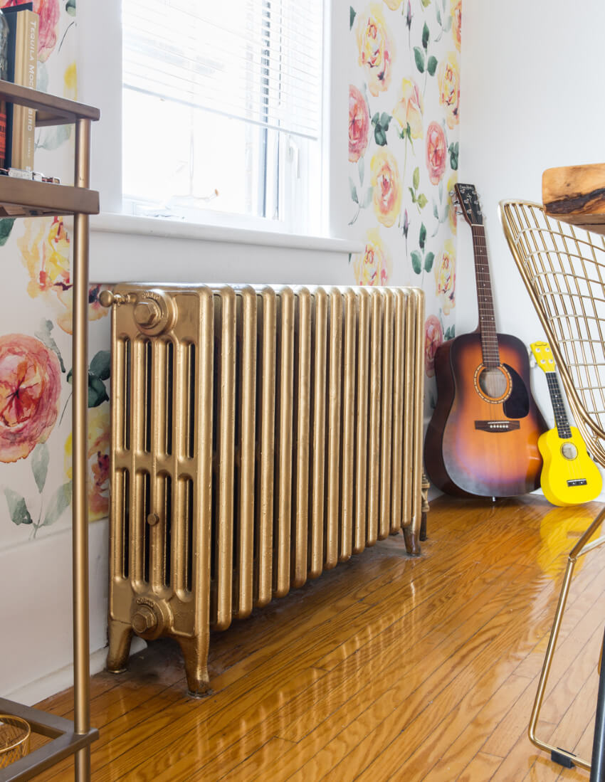 Make a decor accent with some paint over your radiator.