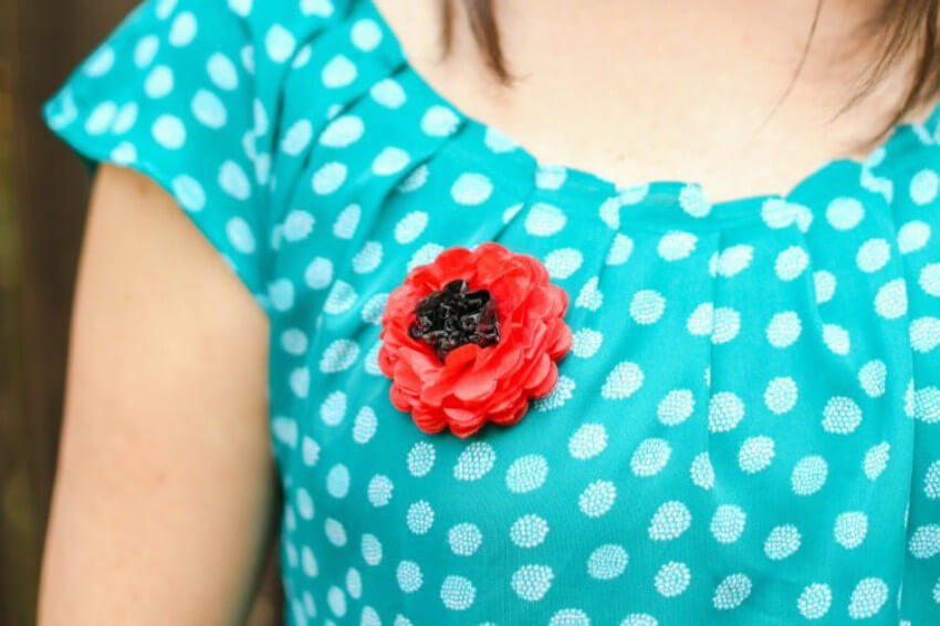 Red poppies are a known symbol to honor Memorial Day.