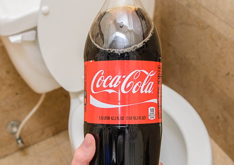coca-cola is good for toilet cleaning