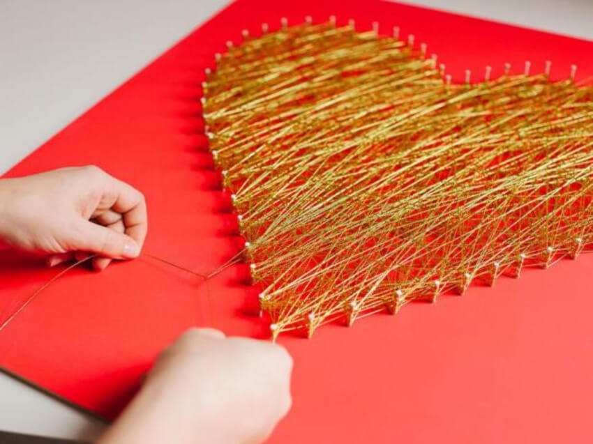 String art is great even for beginner DIYers! Source: HGTV