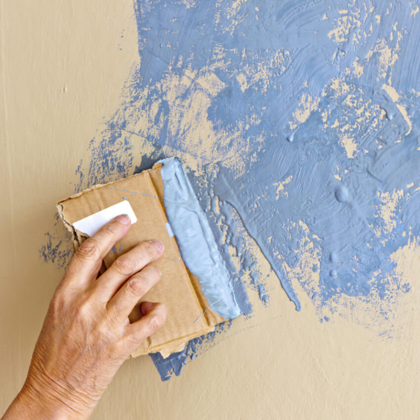 Self-leveling paint will help if your wall has uneven texture.