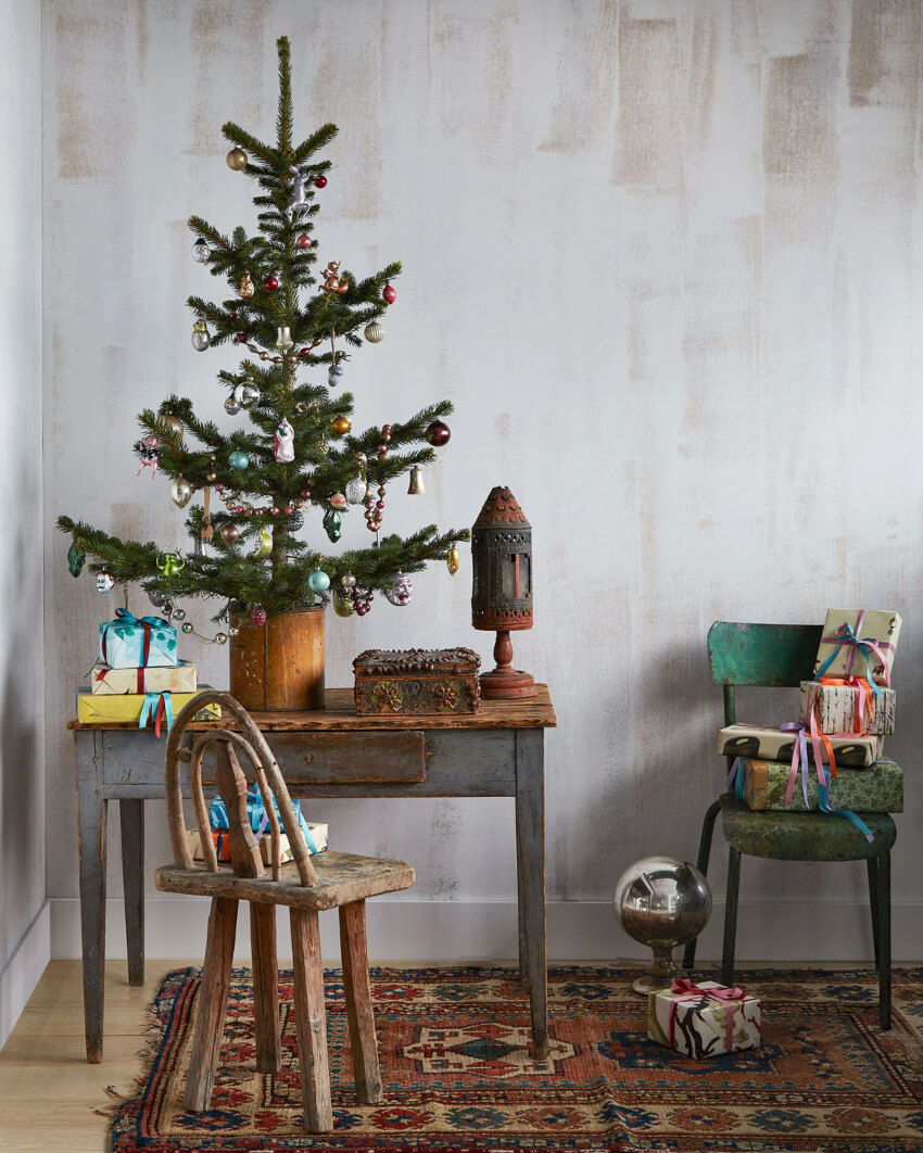 A skinny tree can still look charming. Source: Martha Stewart