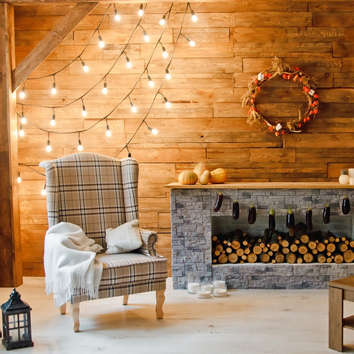 String lights are perfect for quick decoration before the party. Source: Taste of Home