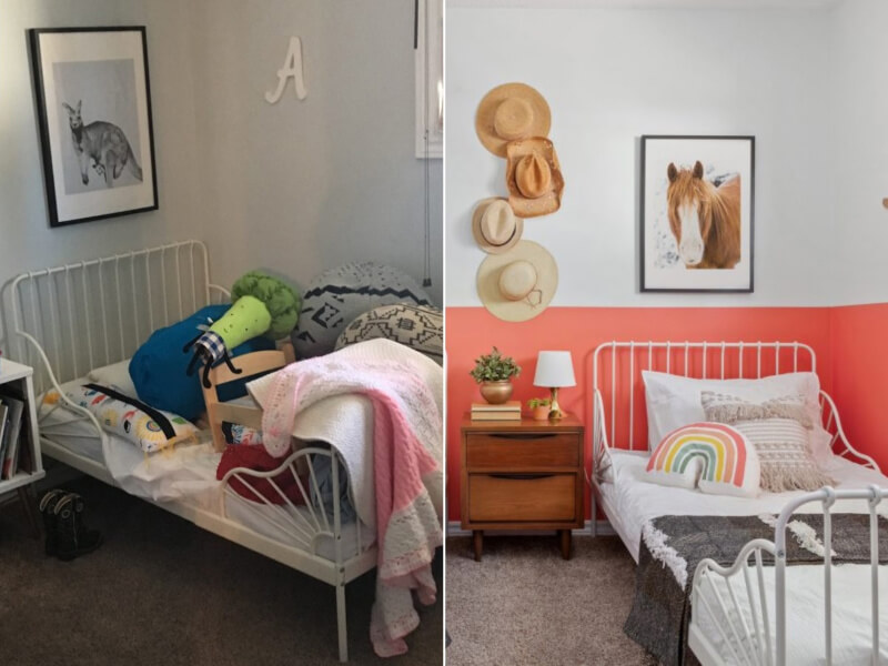 5 Creative Before and After Kids' Bedroom Makeover