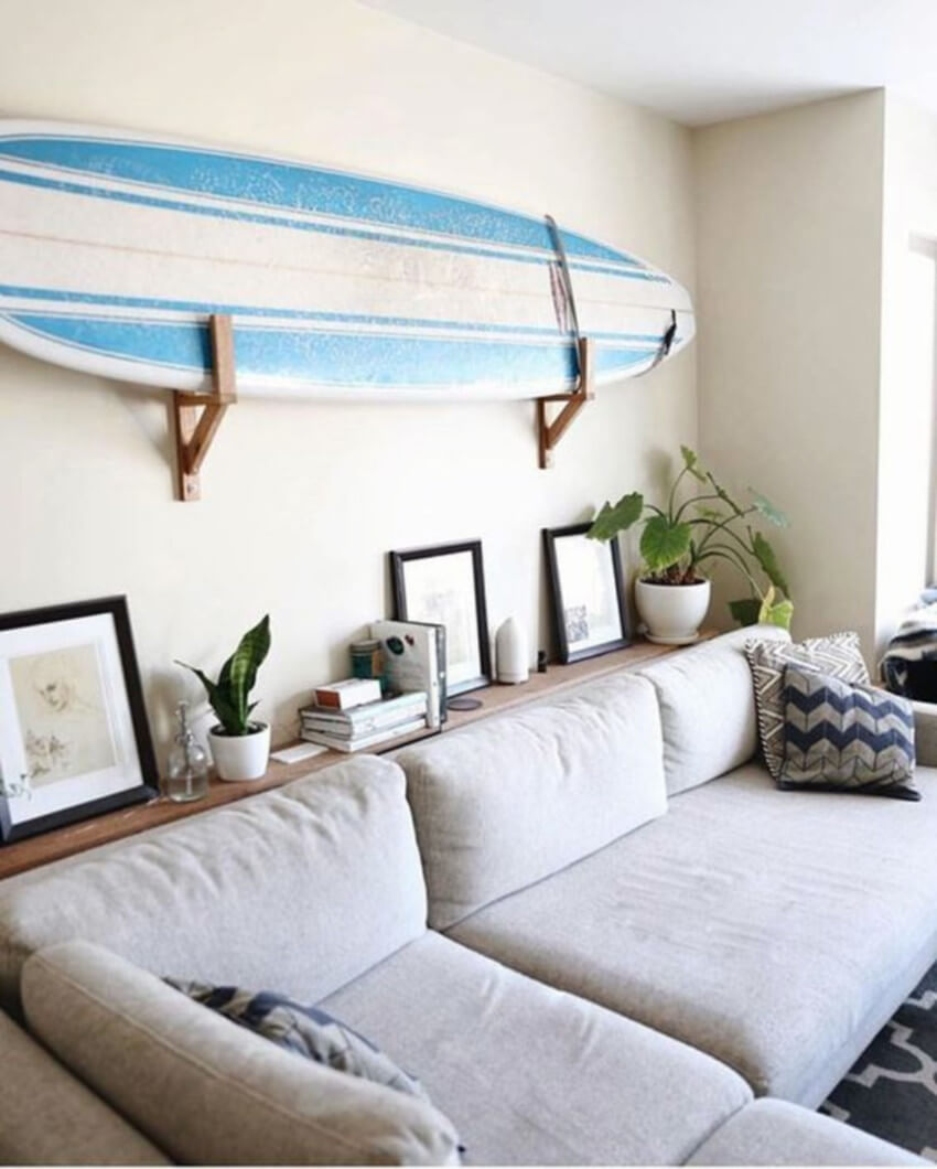 Hang your surfboard as something to be remembered.
