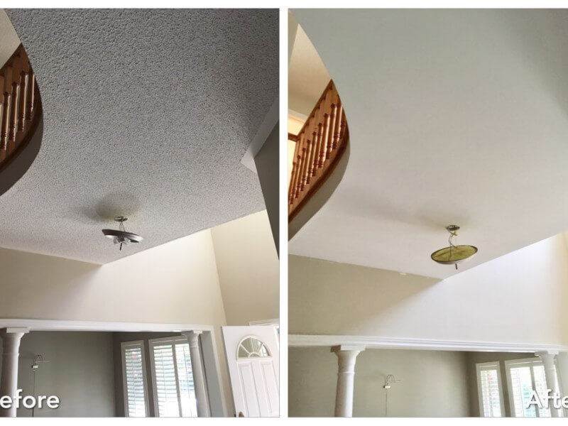 5 Before and After Popcorn Ceiling Removal Photos