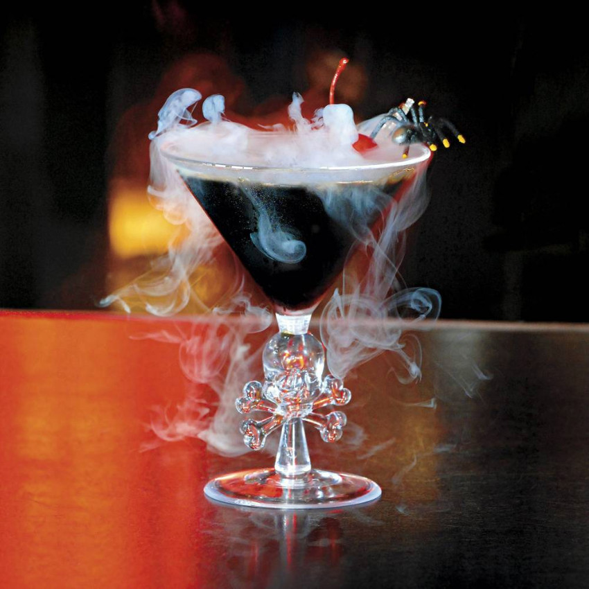 A martini cocktail with an evil twist. Source: Las Vegas Weekly