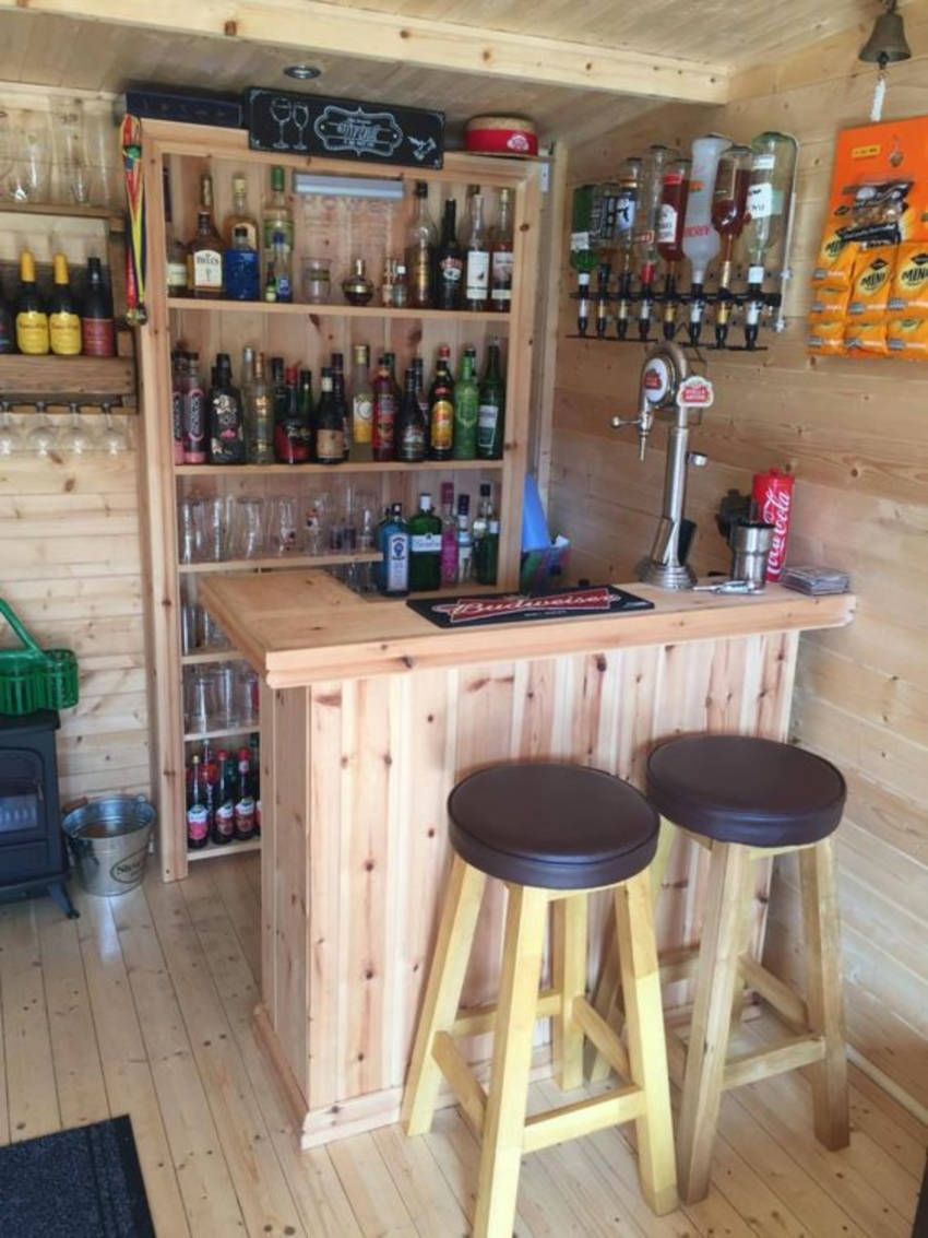 With a bit of wood crafts you can have your bar! Source: Reno Guide