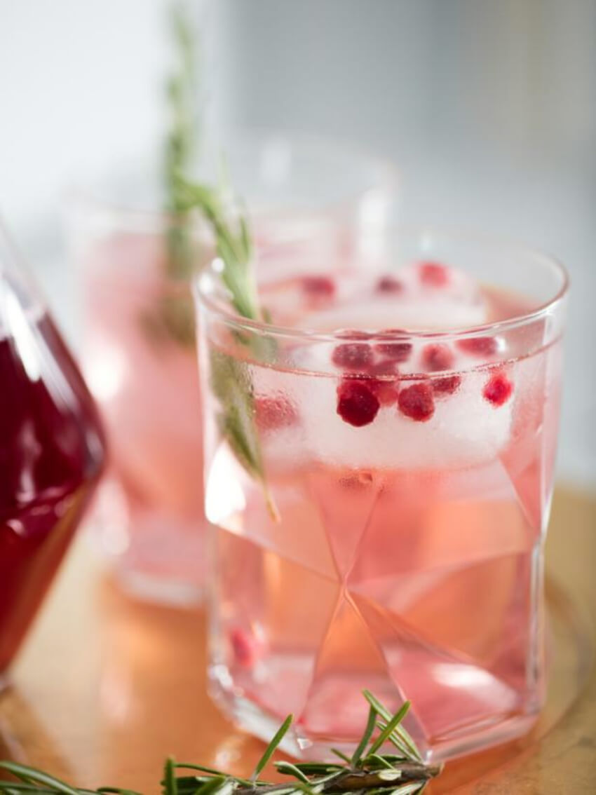 A nice cocktail is the perfect drink for Valentine's Day. Source: HGTV