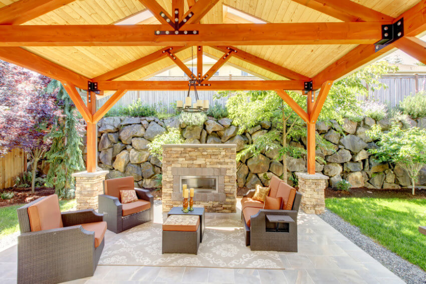 A patio is great to enhance landscape and gather friends and family.