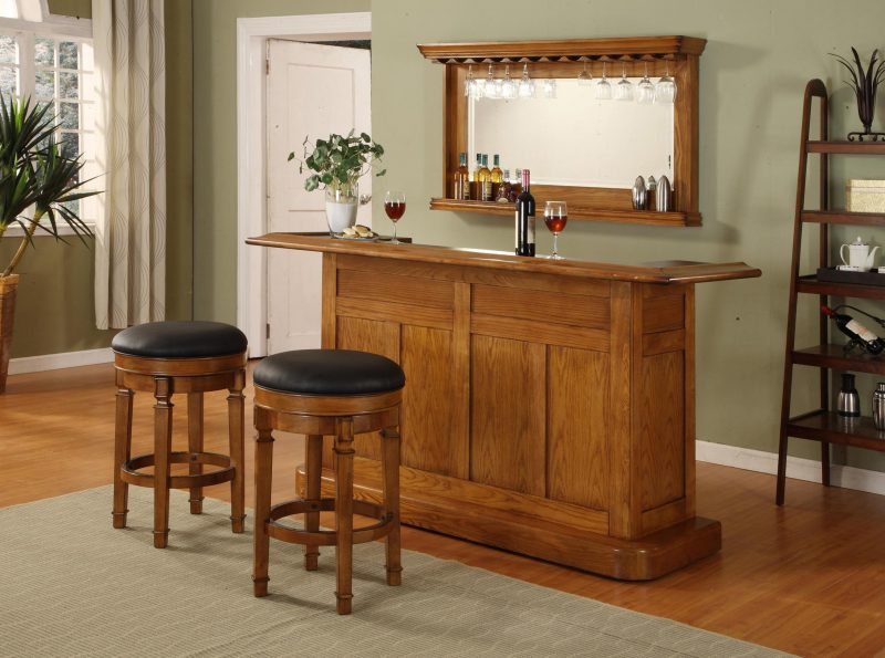 A fully custom island is the ultimate home bar project! Source: Simply Futbol