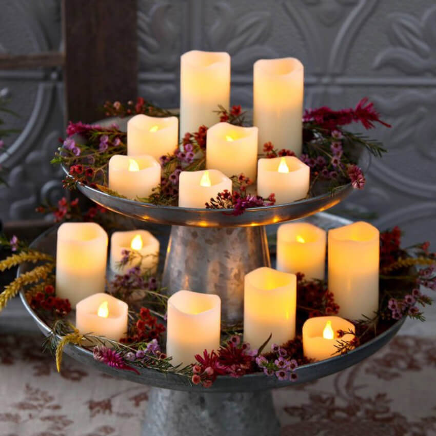 Candles are great visual decor. Source: Satuwarna