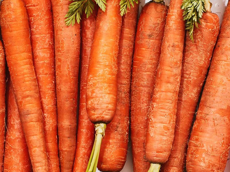 Carrots add taste to many different recipes.