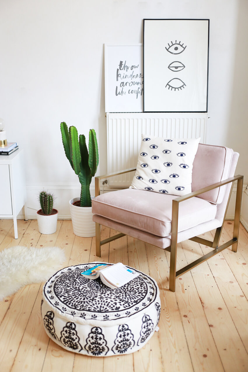 Incorporate your radiator into decoration by using furniture around it.