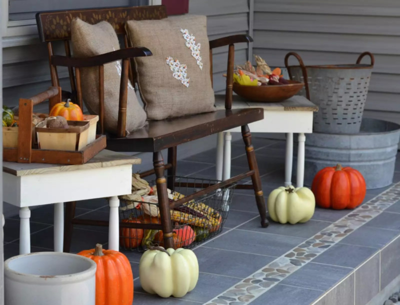 A classic shabby alternative to your front porch. Source: The Spruce