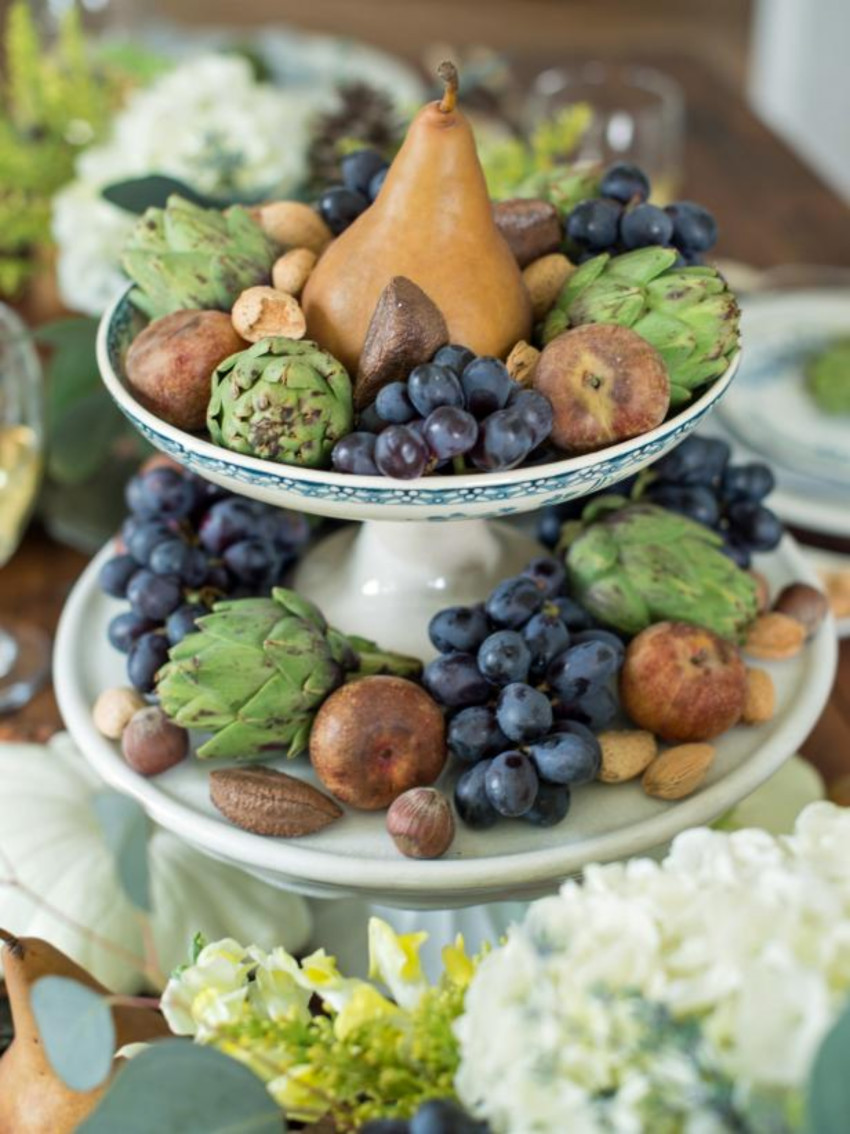 Fruits can also be used as a way to decorate for free! Source: HGTV