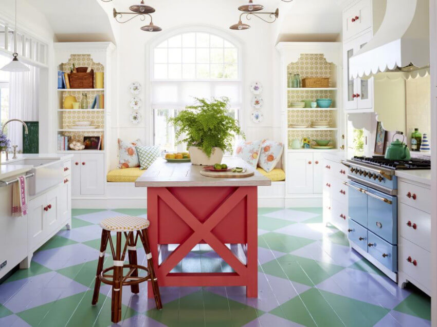 It can be as simple as paiting the kitchen island.