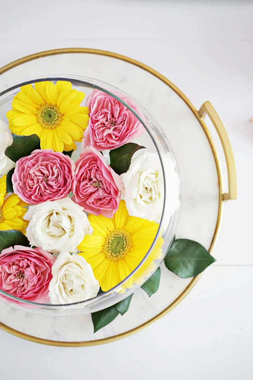 A beautiful centerpiece for Easter and spring altogether.
