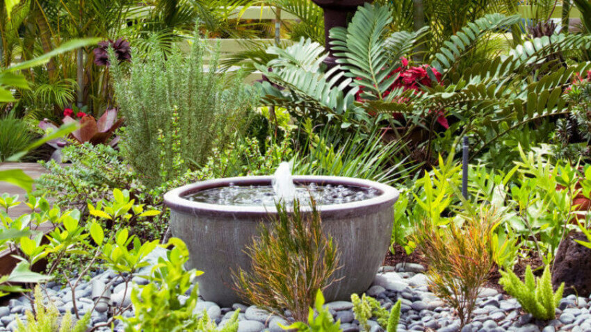 A fountain can make your garden look incredible.