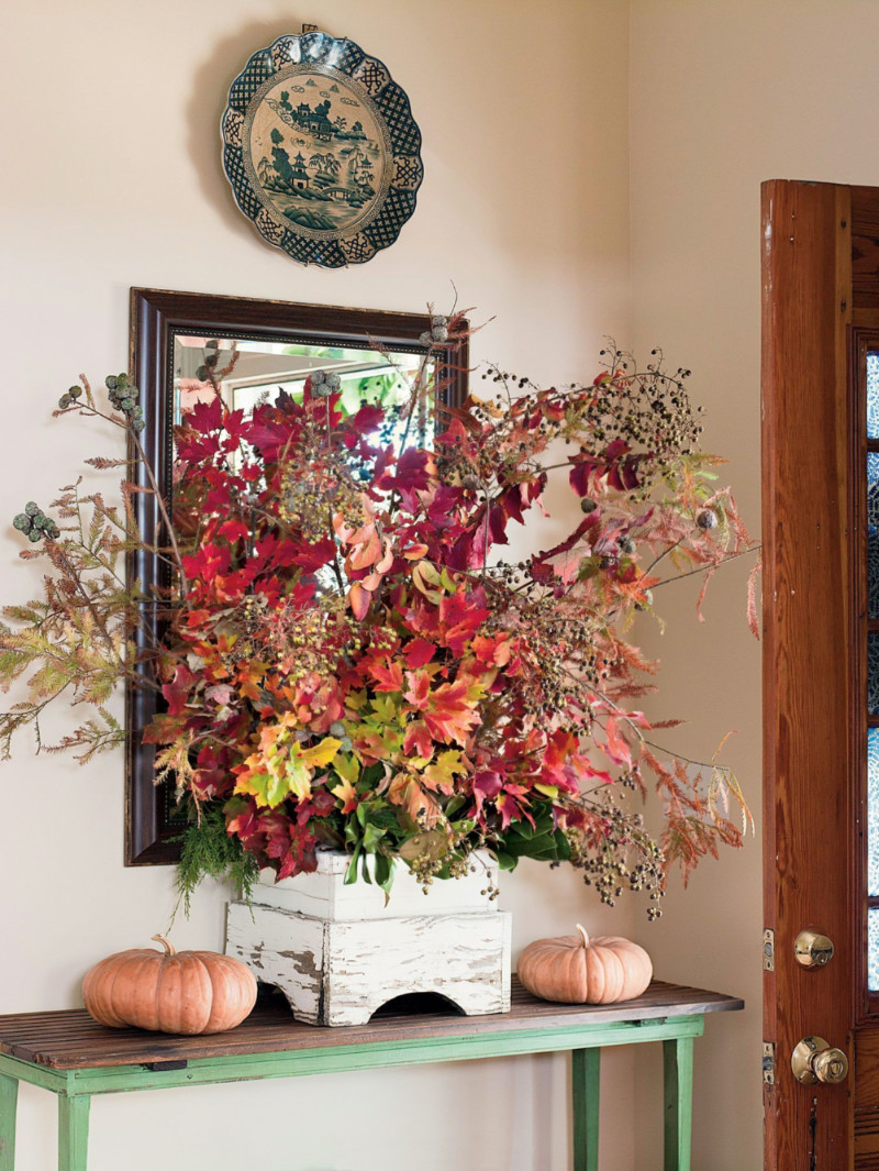 Decorate with foliage to set the mood. Source: Southern Living