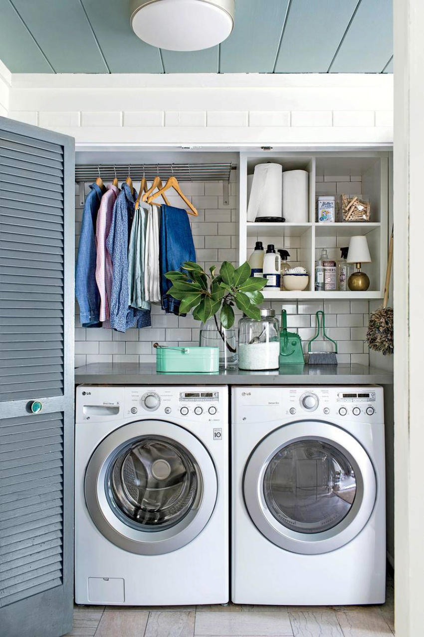 Even if your laundry room is small, it doesn't mean it can't get chaotic too. Source: Southern Hospitality