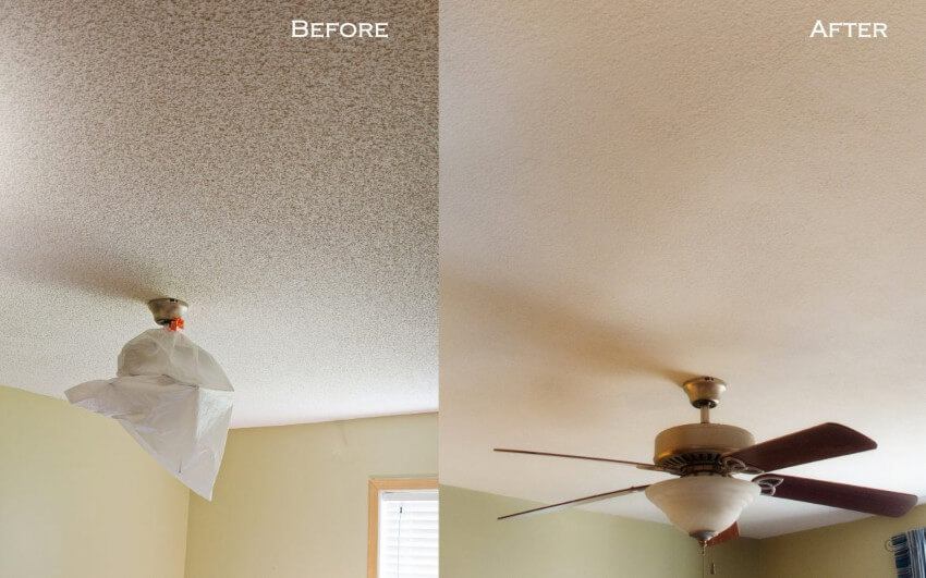 If your ceiling has details like a fan, the removal will look great.