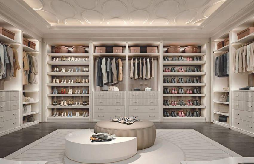Your bedroom will be more organized with a walk-in closet.