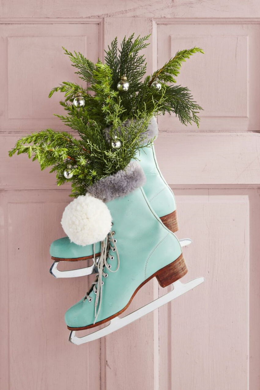 Ice skates have everything to do with winter. Source: Country Living