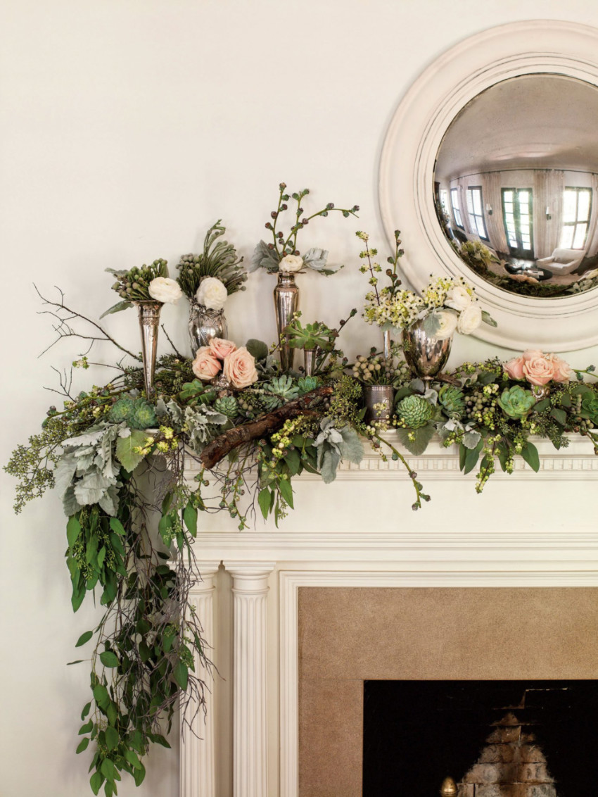 A more rustic idea for the mantle. Source: Southern Living