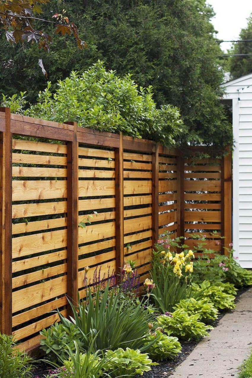 This fence will add privacy and style to your backyard garden.