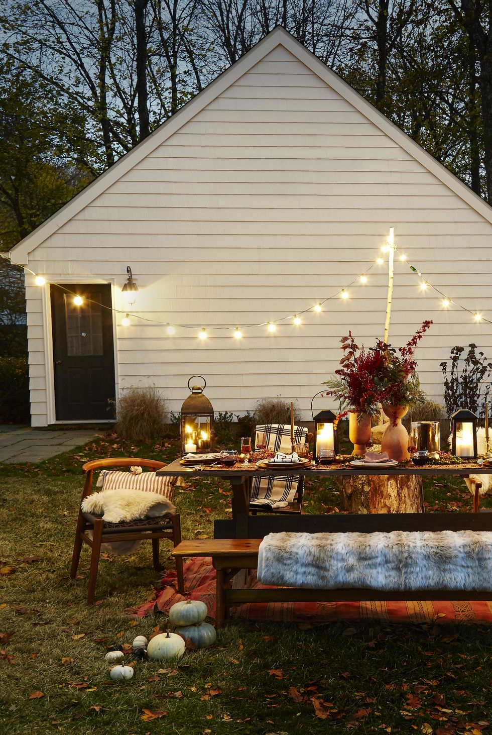Fall is still great for outdoor hangouts! Source: Good Housekeeping