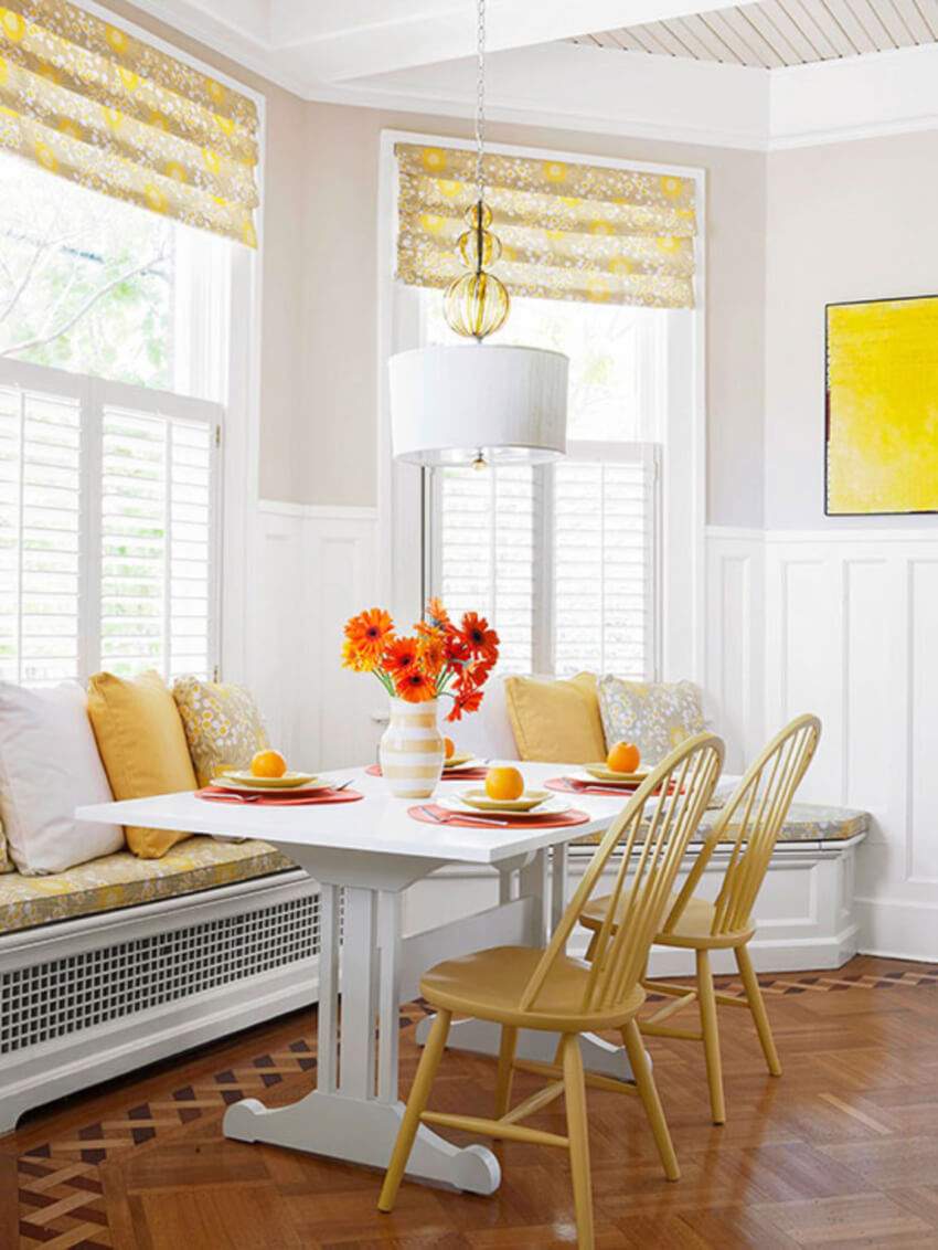 A breakfast nook is something we all need in our lives!