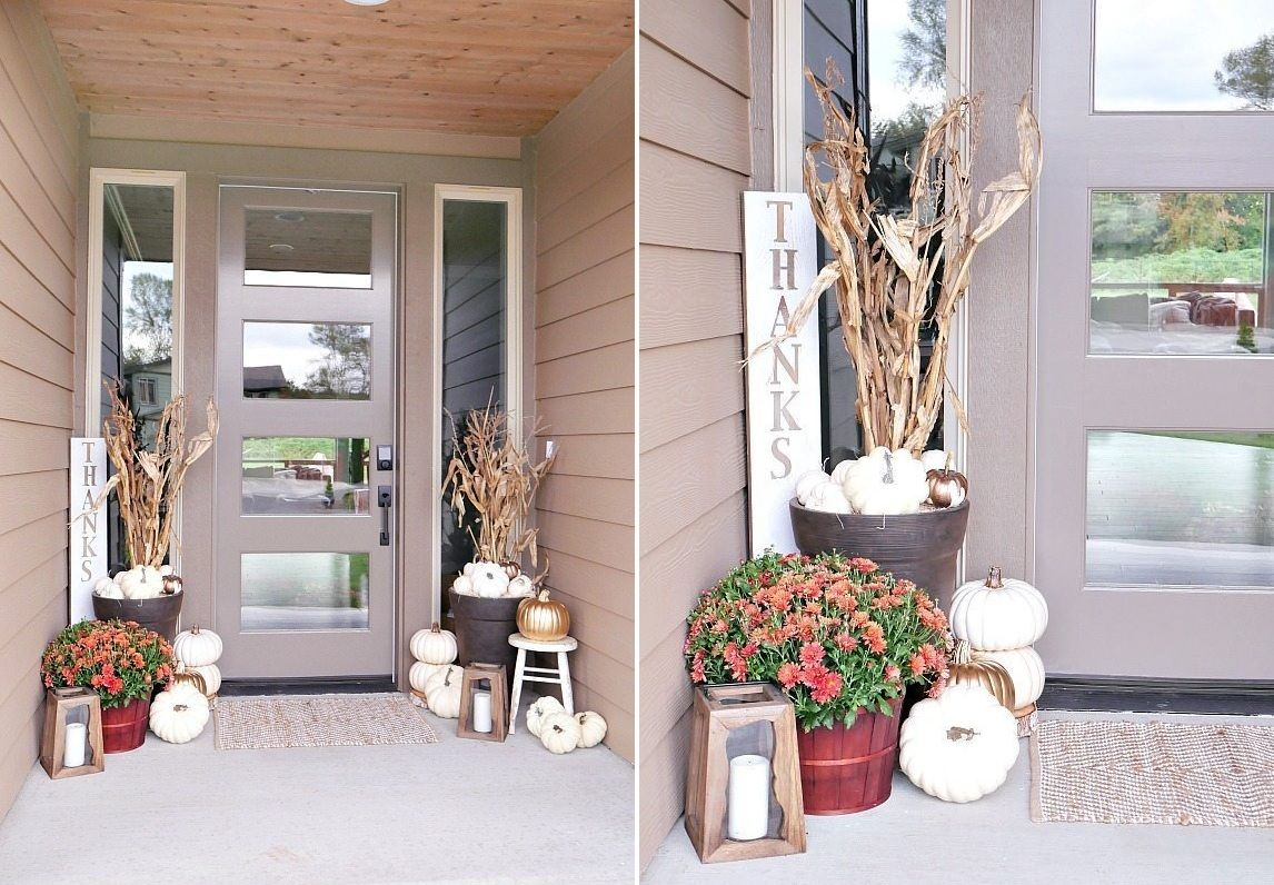 There's always room for a modern touch in Fall decoration. Source: Home Edit